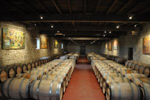 Quietly Famous Barrel Room at Sigalas Rabaud